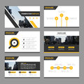 Yellow black Abstract presentation templates, Infographic elements template flat design set for annual report brochure flyer