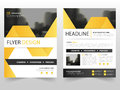 Yellow black business Brochure Leaflet Flyer annual report template design, book cover layout design Royalty Free Stock Photo