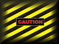 Yellow on black caution sign Stock Images