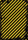 Yellow black and grunge barricade tape Stock Photo