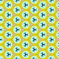 Yellow Black Kaleidoscope Paper Pattern Royalty Free Stock Photo