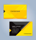 Yellow and Black modern business card template