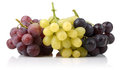 Yellow, Black and pink grapes Royalty Free Stock Photo