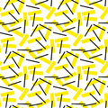 Yellow and black rectangle geometry