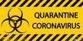 Yellow and black stripes, sign symbol quarantine zone area Stop Novel Coronavirus outbreak covid 2019 nCoV symptoms in