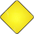 Yellow blank road sign damaged metallic for symbol Royalty Free Stock Images