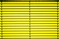 Yellow blinds blind shutter in a window Stock Photos