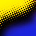 Yellow and blue halftone Royalty Free Stock Photography