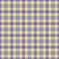 Yellow blue plaid Royalty Free Stock Images