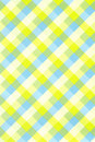 Yellow/blue plaid background Stock Images