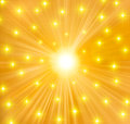 Yellow Bokeh Stars Background Royalty Free Stock Images