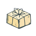 Yellow box cake for his birthday