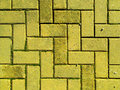 Yellow brick paving Stock Photos