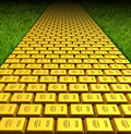 Yellow brick road Stock Photography