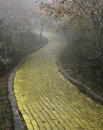Yellow brick road, Beech Mountain, North Carolina Royalty Free Stock Photo