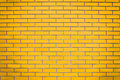 Yellow brick wall background idea Royalty Free Stock Images