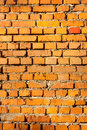 Yellow brick wall one red Royalty Free Stock Image