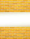 Yellow brick wall with place for text construction background and Royalty Free Stock Images