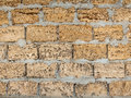 Yellow brick wall texture background for design Royalty Free Stock Images