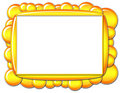 Yellow Bubble Frame Stock Photography