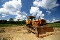 Yellow bulldozer Royalty Free Stock Photo