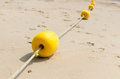 Yellow buoy .