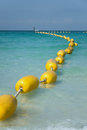 Yellow buoy at the Pattaya beach