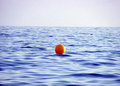 Yellow buoy on sea water