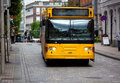 Yellow bus Royalty Free Stock Image