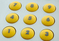 Yellow buttons Royalty Free Stock Photos