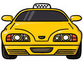 Yellow cab vector illustration of taxi Royalty Free Stock Photography