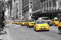 Yellow cabs on 5th Avenue Royalty Free Stock Photo