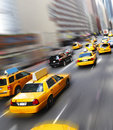 Yellow cabs in New York Stock Photography