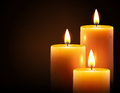Yellow candles Royalty Free Stock Photo
