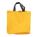 Yellow canvas shopping bag isolated on white Royalty Free Stock Photo