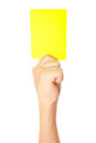 Yellow card Royalty Free Stock Photo