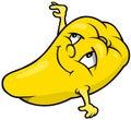 Yellow Cartoon Bell Pepper Royalty Free Stock Photo