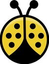 Yellow Cartoon Ladybird
