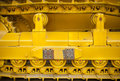 Yellow caterpillar track Stock Image