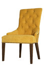 Yellow chair from velor Royalty Free Stock Photo