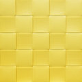 Yellow checkered placemat texture colorful Stock Images