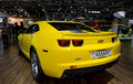 Yellow chevrolet camaro from back Royalty Free Stock Photo