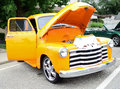 Yellow 1950 Chevrolet Pickup truck Royalty Free Stock Photo