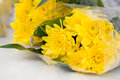 Yellow chrysanthemum flower bouquet popularly use for offer sacrifice to the buddha Stock Photography