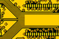 Yellow circuit board Stock Photography