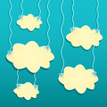 Yellow Clouds Hanged by White Threads Stock Image