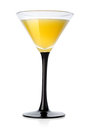 Yellow cocktail in a glass Royalty Free Stock Photo