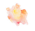 Yellow colorful abstract hand draw watercolour Royalty Free Stock Photo