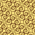 Yellow colors art deco style lattice pattern design original pa and symbol series Royalty Free Stock Photo