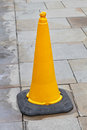 Yellow cone Stock Images